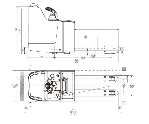 A Series Rider Pallet Truck